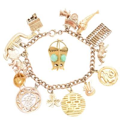 Lot 8-A charm bracelet