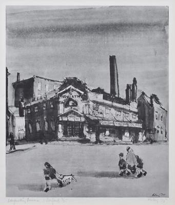 """Lot 108 - After Harold Riley, """"Langworthy Cinema, Salford"""", signed print."""