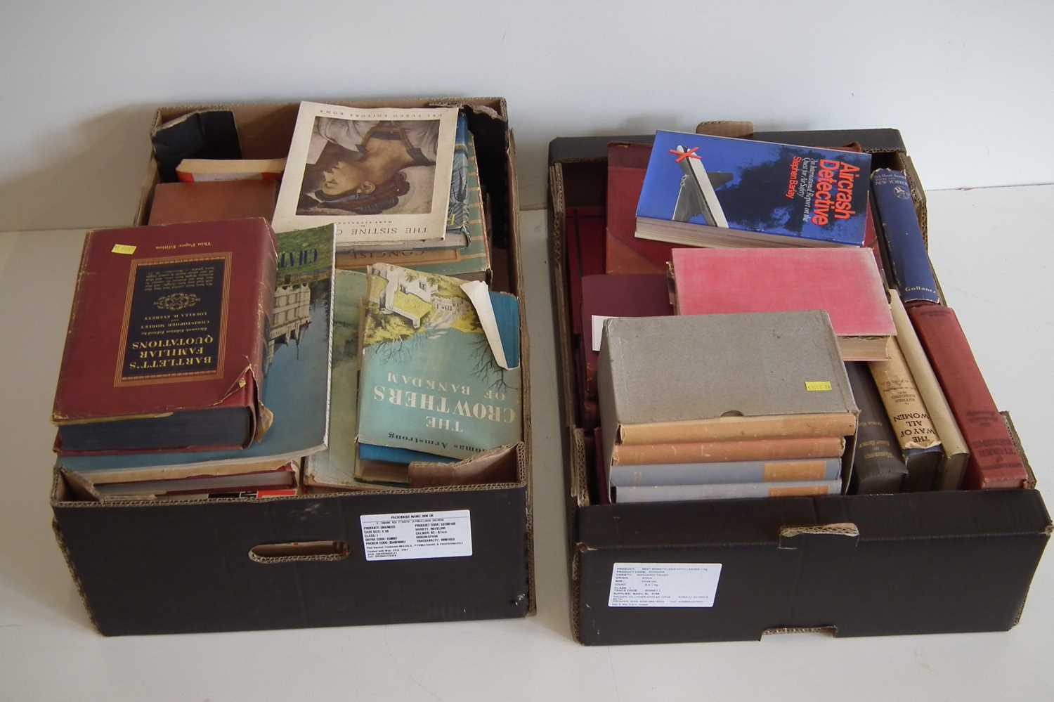 Lot 37-Two boxes of books.