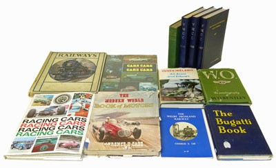 Lot 55-12 motoring books to include