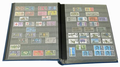 Lot 92-GB Collection in lindner stockbook from 1840-1992, early issues mainly used, some later decimal mint sets.