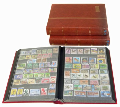 Lot 86-British Commonwealth and Colonies stamps in 3 lindner stockbooks, all periods with many mint sets.