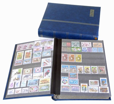 Lot 72-Asian stamps in 2 lindner stockbooks with interest in China, Korea and Vietnam.