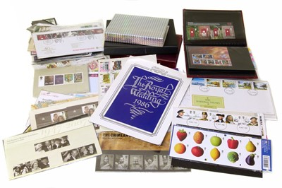 Lot 71-Collection of mainly GB covers, packs and booklets in bag with much decimal mint.