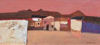 Lot 100 - David Humphreys, Mexican landscape, oil.
