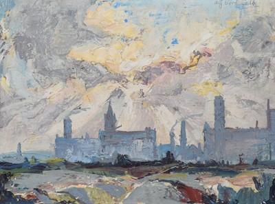 "Lot 102 - A.J. Corfield, ""Failsworth and Newton Heath, Manchester"", oil."