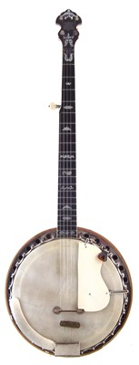 Lot 17-Clifford Essex & Son Paragon five string banjo in case