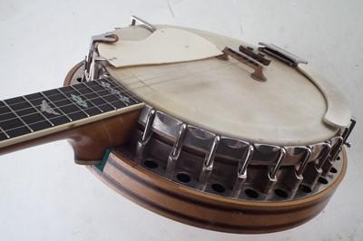 Lot 17-Clifford Essex & Son Paragon five string banjo in case
