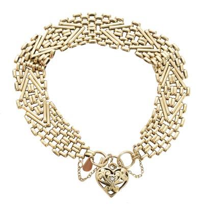 Lot 1-A 9ct gold diamond bracelet