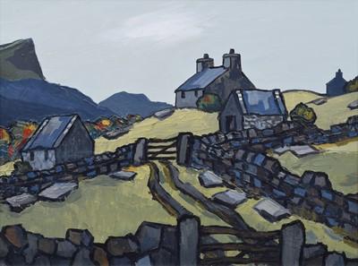 "Lot 67 - David Barnes (British 1943-), ""In the Moelwyns"", oil."