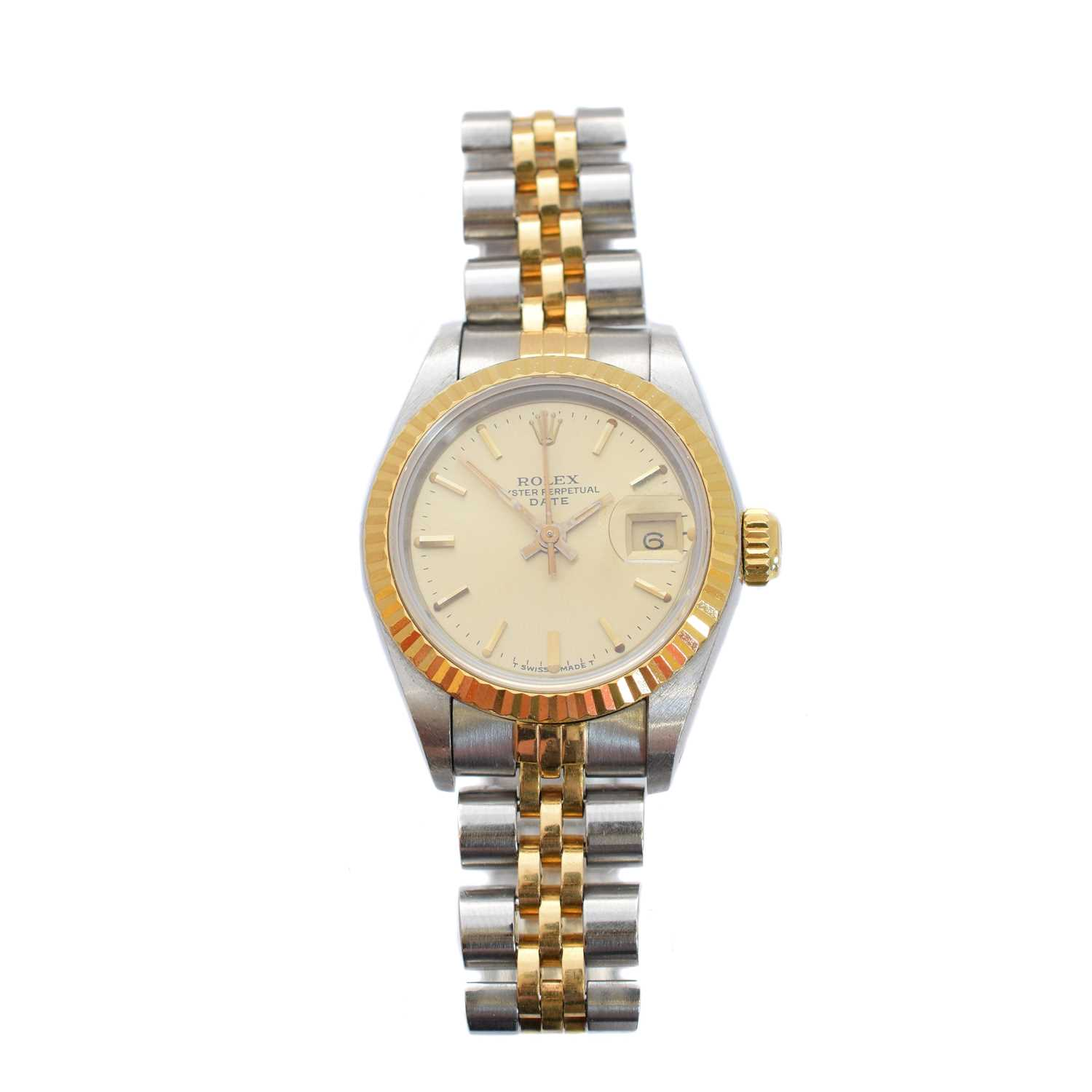 Lot 261-A ladies steel and gold Rolex Oyster Perpetual Datejust wristwatch