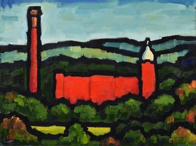 "Lot 72 - Malcolm Croft (British 1964-), ""Pear Mill, Autumn"", oil."