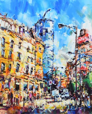 """Lot 73 - Olivia Pilling, """"The Urbis and Printworks"""", acrylic."""
