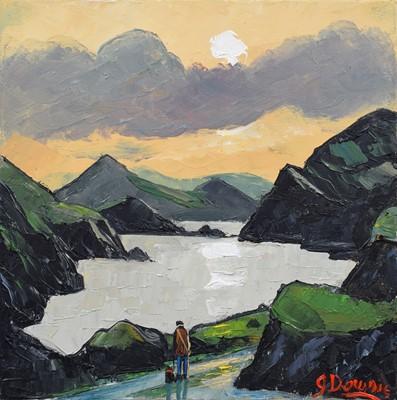 "Lot 69 - James Downie (British 1949-), ""The Lake"", oil."