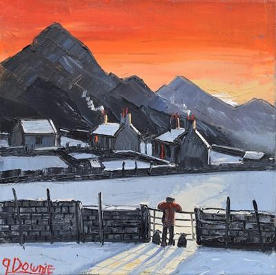 "Lot 71 - James Downie (British 1949-), ""Sunset"", oil."