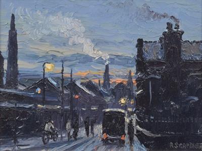 "Lot 75 - Reg Gardner (British 1948-), ""Morning Shift (Newton Heath Area)"", oil."