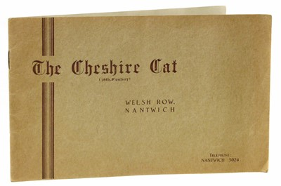 """Lot 60-Information booklet about """"The Cheshire Cat, Nantwich""""."""