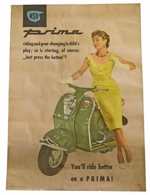 Lot 4-NSU Prima Scooter original poster