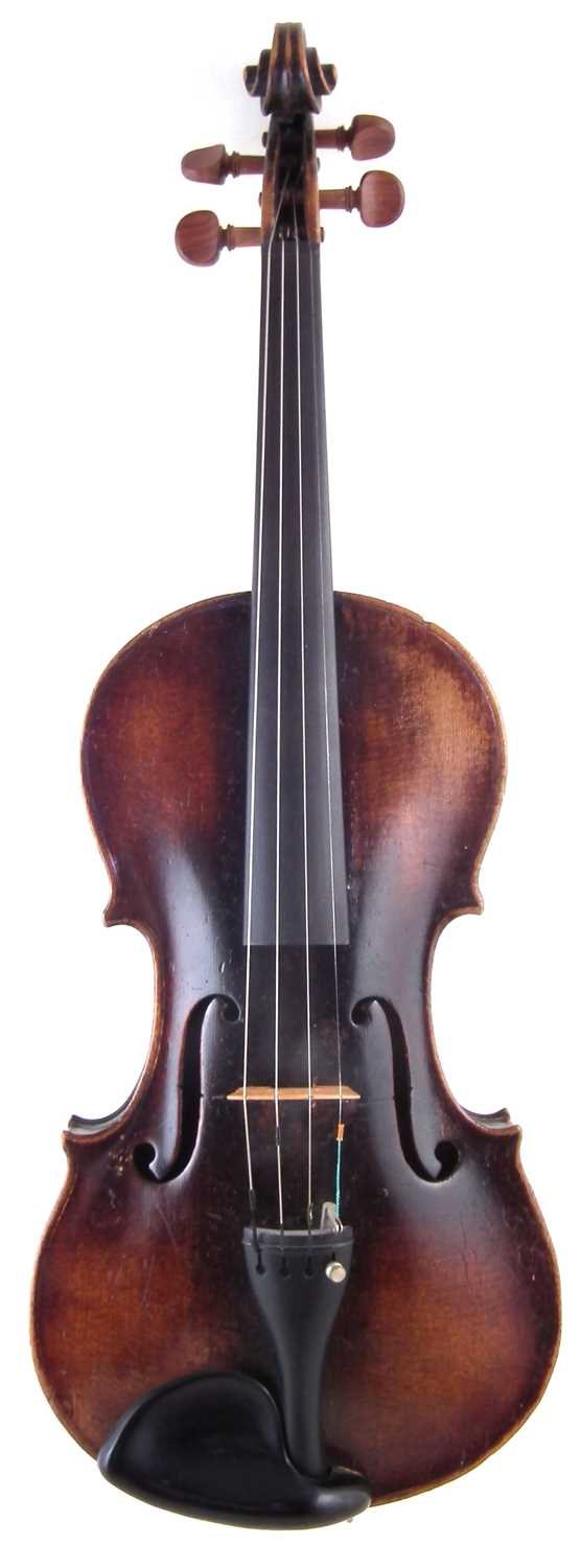 Lot 8-German violin with bow and case