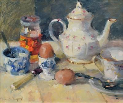 "Lot 84 - Gordon Radford (British 1936-2015), ""Breakfast"", oil."
