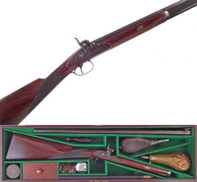 Lot -Walmsley and Fisher percussion sporting gun unusually small proportions.