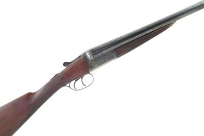 Lot -F. J. Wiseman 12 bore double barrel shotgun 87044 with case.