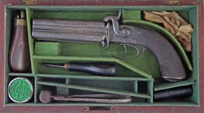 Lot -R.B. Rodda four barrel percussion pistol