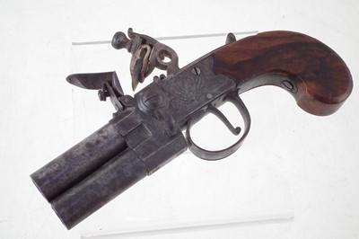 Lot -H. Nock flintlock double barrel pistol