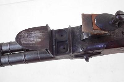 Lot -Flintlock double barrel boxlock pistol