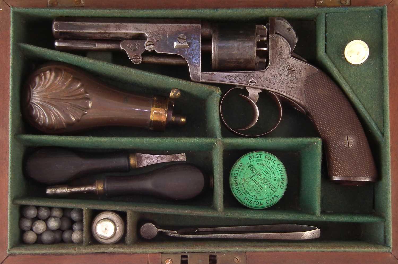 Lot -J.A. Harper percussion revolver with case