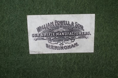 Lot -Percussion pepperpot pistol with a William Powell case