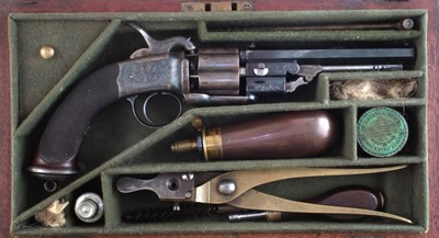 Lot 12 - Parker Field percussion transitional revolver in case