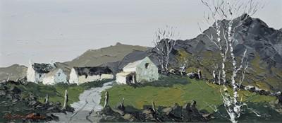 Lot 106 - Charles Wyatt Warren (British 1908-1983), Welsh farmstead, oil.