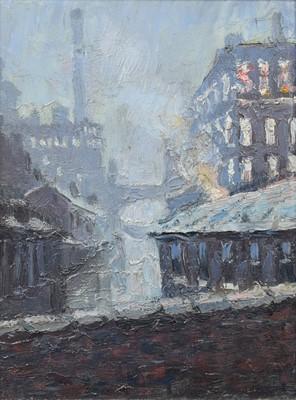"Lot 82 - Reg Gardner (British 1948-), ""Beswick St. Bridge (Sylvana Mill)"", oil."