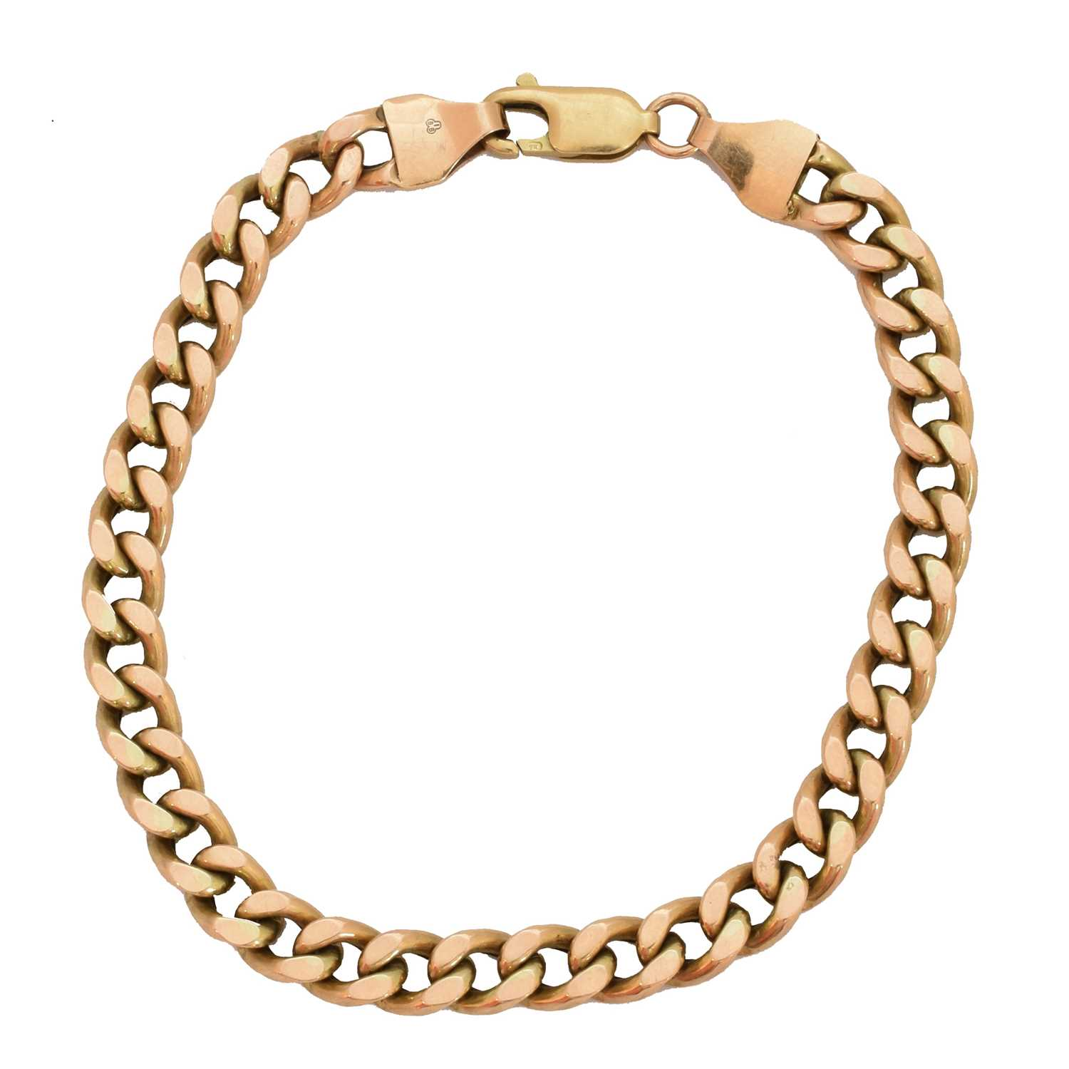 Lot 11-A 9ct gold bracelet