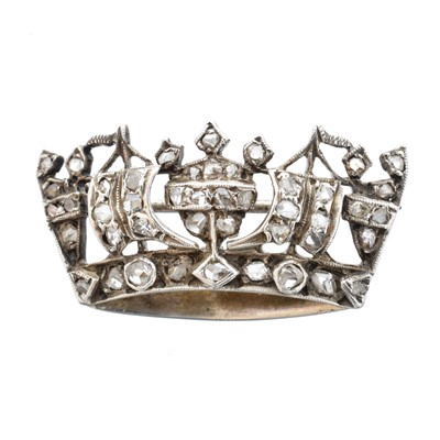 Lot 27-A diamond naval crown brooch