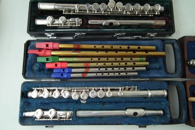 Lot 29-Four flutes and five whistles