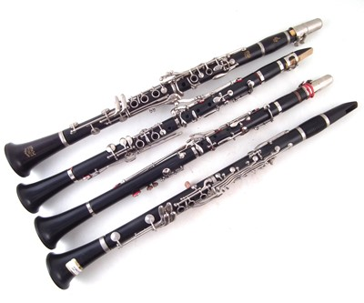 Lot 30-Four Clarinets