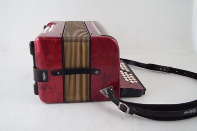 Lot 42-Hohner Trichord II accordion.