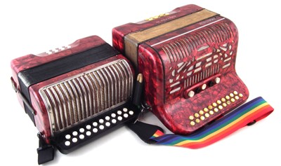 Lot 43-Hohner Amatona IV and an Erica accordion.