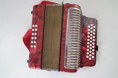 Lot 44-Hohner Corona II accordion.