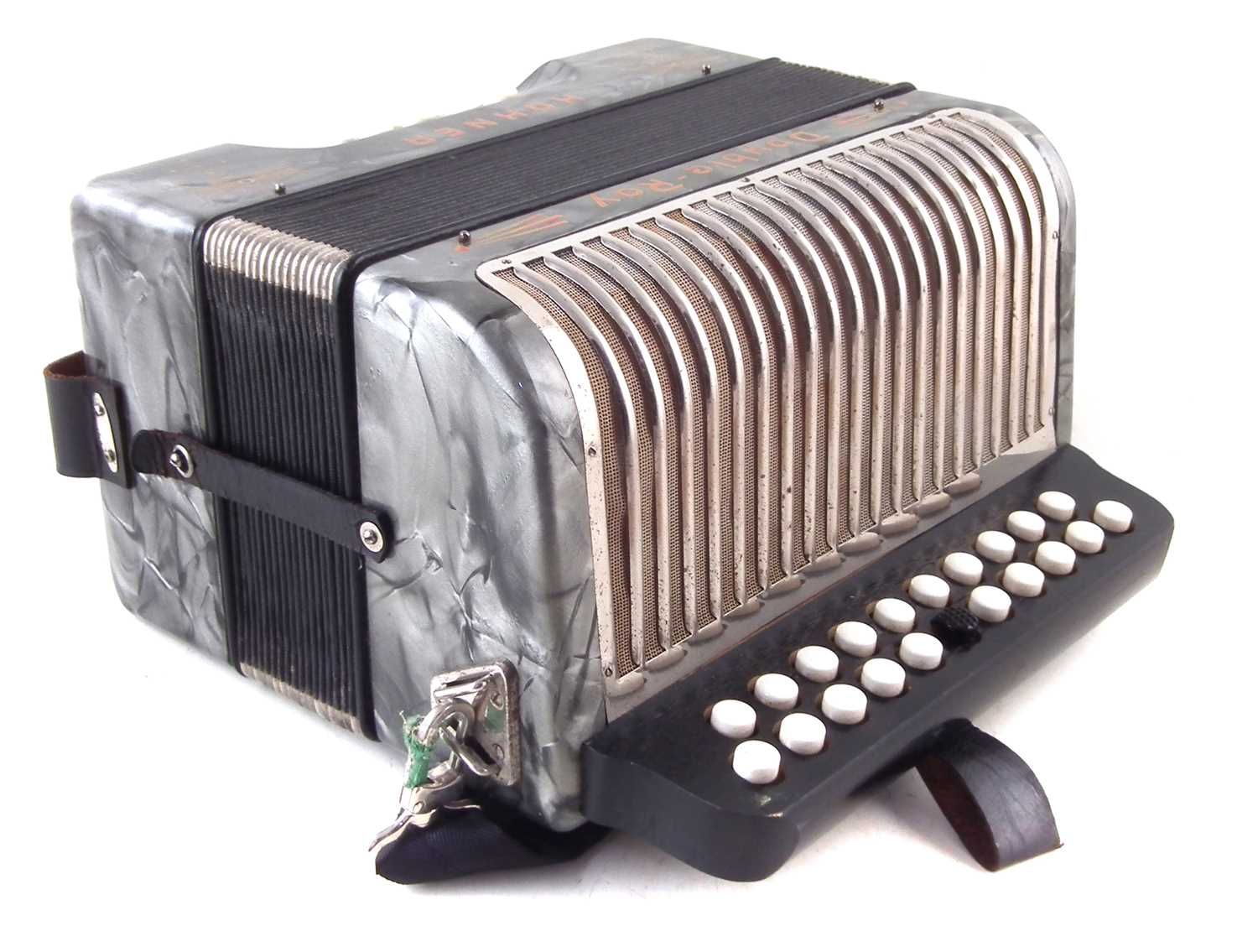 Lot 45-Hohner Double Ray accordion.