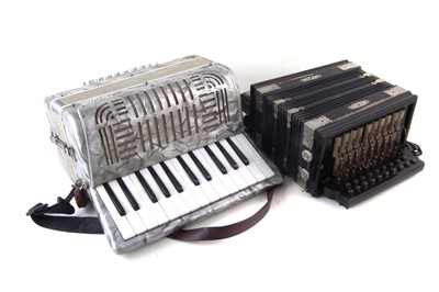 Lot 50-Studio piano accordion and one other.