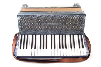 Lot 53-Hohner Verdi III piano accordion in case.