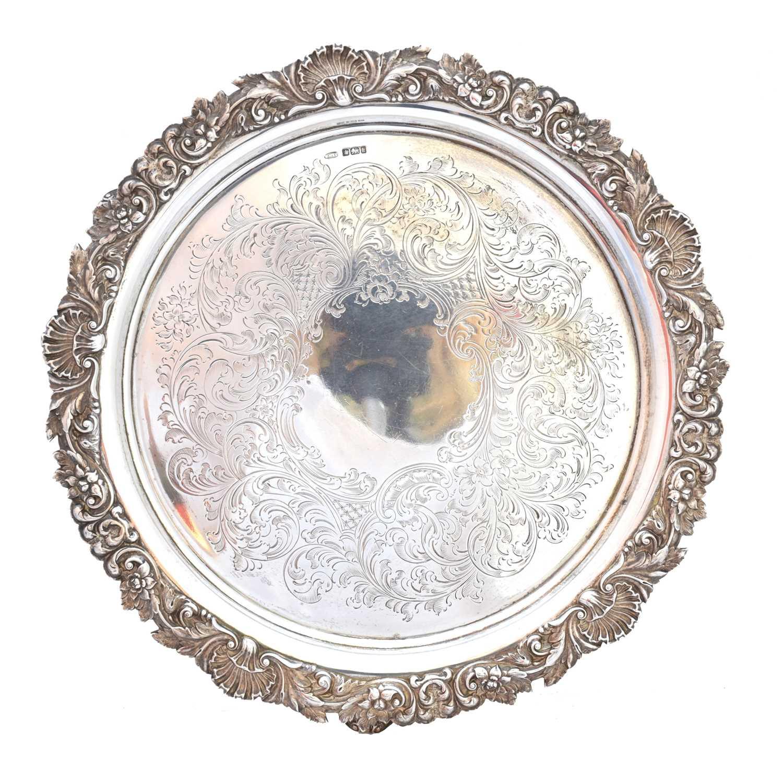 Lot 46-An Edward VII silver salver