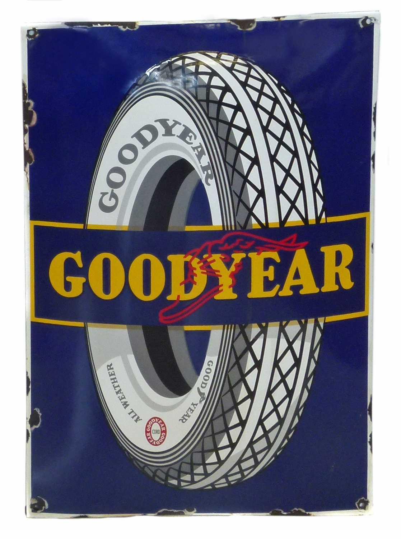 Lot 26-Goodyear enamel sign