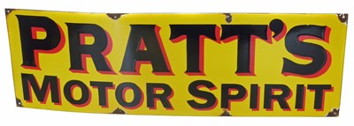 Lot 25-Pratt's motor spirit enamel sign