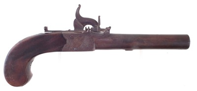 Lot -Percussion boxlock pistol by Higham Warrington