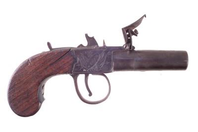 Lot -Flintlock boxlock pocket pistol by Bolton Wigan