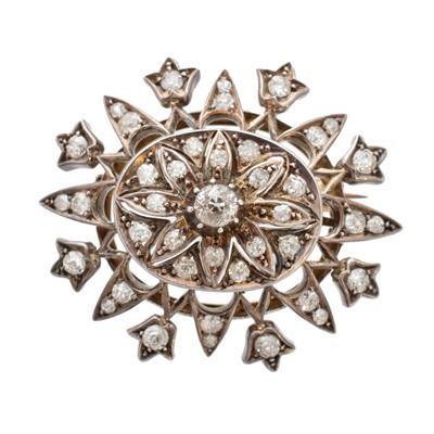 Lot 30-A 19th century diamond brooch
